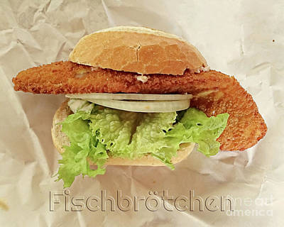 Photograph - Delicious Fish Sandwich by Gabriele Pomykaj