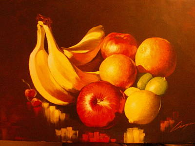 Painting - Delicious Fruit by Victor Cuya