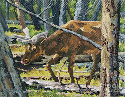 Painting - Delicious Greens, Yellowstone by Erin Fickert-Rowland