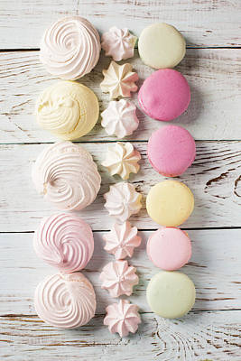Merengue Photograph - Delicious Macaroons And Merengues  by Vadim Goodwill