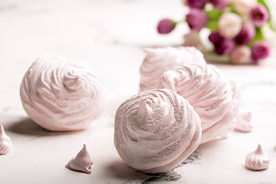 Merengue Photograph - Delicious Merengue On The Light Table by Vadim Goodwill