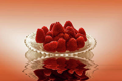 Photograph - Delicious Raspberries by David French