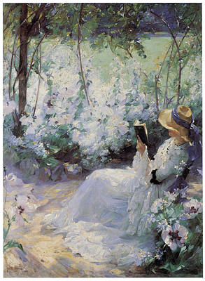 White Flowers Painting - Delicious Solitude by Frank Bramley