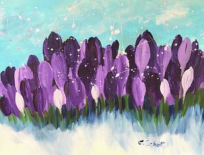 Painting - Delightful Crocus  by Christina Schott