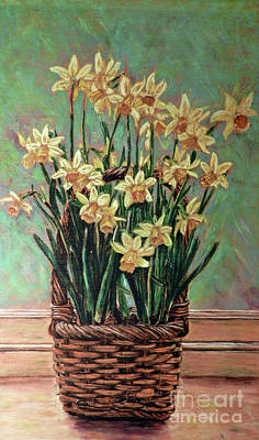 Delightful Daffodils  Art Print by Cat Culpepper