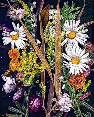 Painting - Delightful Daisies by Anne Sands