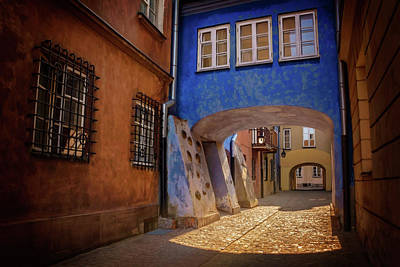 Old City Photograph - Delightful Dawna Street Warsaw  by Carol Japp