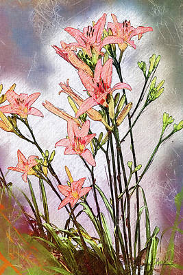 Digital Art - Delightful Daylilies by Jo-Anne Gazo-McKim