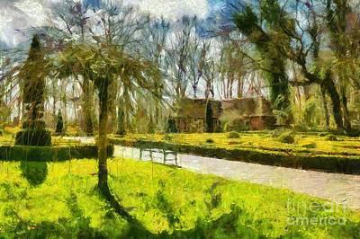 Digital Art - Delightful Garden In Spring by Eva Lechner