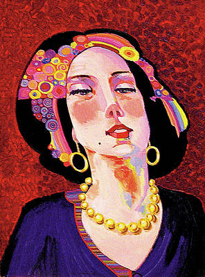 Abstract Realism Painting - Delilah by Bob Coonts