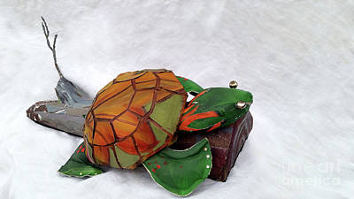 Sculpture - Delilah De Turtle by Deborah Smith