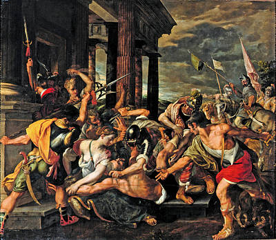 Imprisonment Painting - Delilah's Betrayal And Samson's Imprisonment By The Philistines  by Joos van Winghe