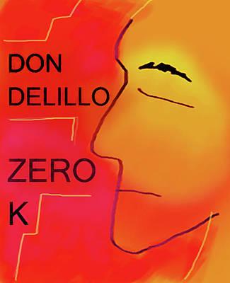 Literature Painting - Delillo Zero K Poster  by Paul Sutcliffe
