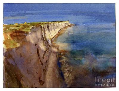 Painting - Delimara Coastline by Godwin Cassar