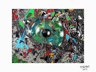 Abstract Sights Mixed Media - Delirium II by Ricardo Mester