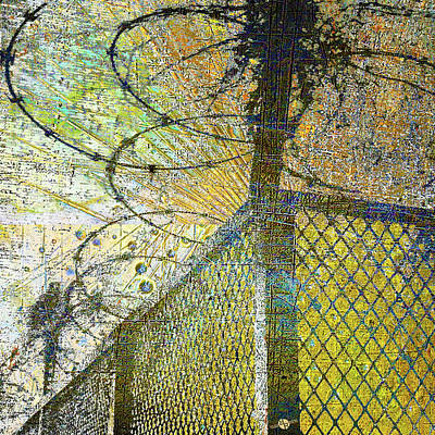 Barbed Wire Fences Mixed Media - Deliverance by Tony Rubino