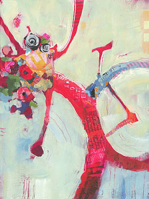 Painting - Delivering Flowers by Shelli Walters