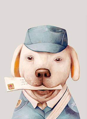 Animals Painting - Delivery Dog by Animal Crew