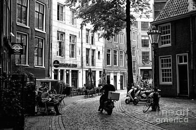 Photograph - Delivery In Amsterdam Mono by John Rizzuto