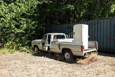 Photograph - Delivery Truck Not Working by Tom Cochran
