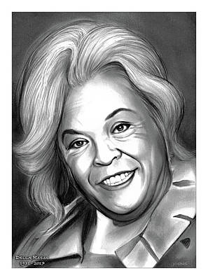 Drawings - Della Reese by Greg Joens