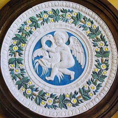 Ceramic Art - della Robbia homage by Jacqueline Del  Fonso