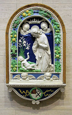 Photograph - Della Robbia's Adoration Of The Christ Child -- The Ruskin Madonna by Cora Wandel
