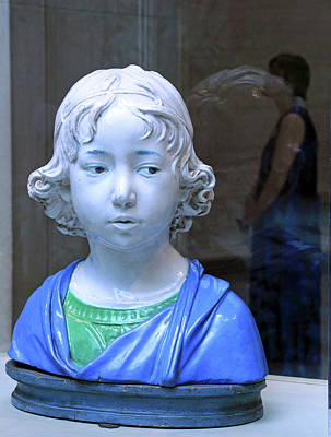 Photograph - Della Robbia's Bust Of A Boy by Cora Wandel