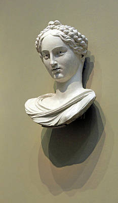 Photograph - Della Robbia's Bust Of A Woman by Cora Wandel