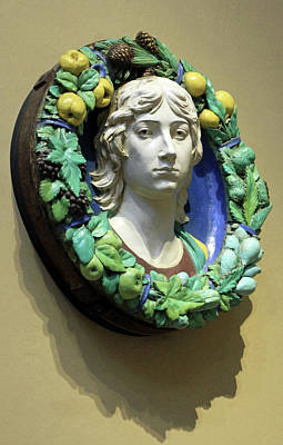 Photograph - Della Robbia's Roundel With Head Of A Youth by Cora Wandel