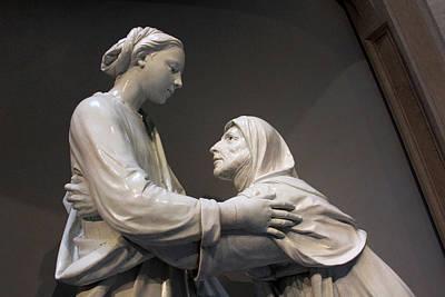 Photograph - Della Robbia's The Visitation -- 2 by Cora Wandel