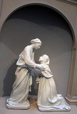 Photograph - Della Robbia's The Visitation by Cora Wandel