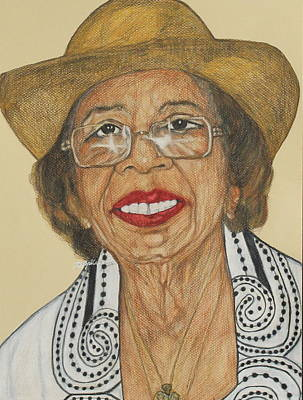 Drawing - Della Willis Portrait by Michelle Gilmore