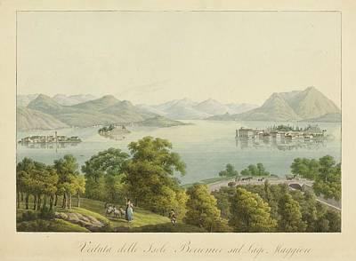 Lago Painting - delle Isole Borromee sul Lago by MotionAge Designs