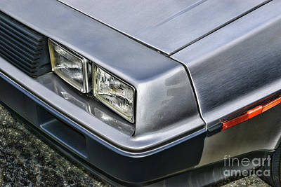 Photograph - Delorean Headlights by Paul Ward