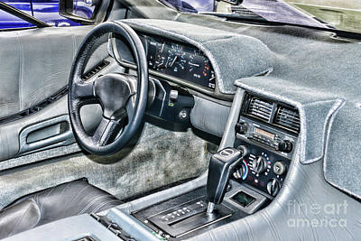 Photograph - Delorean Inside The Cockpit by Paul Ward