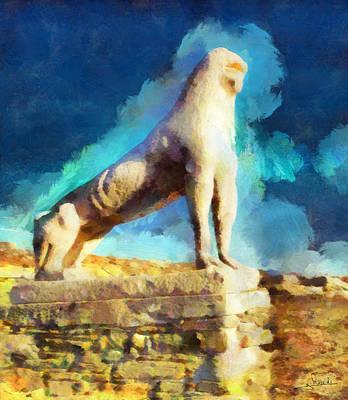Dream Painting - Delos Island by George Rossidis