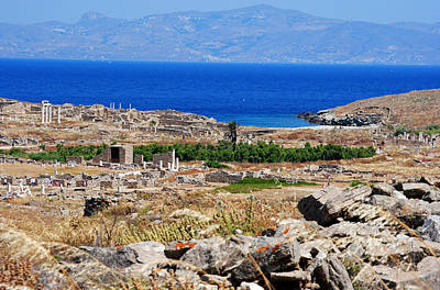 Photograph - Delos Island View Of Agean by Robert Moss