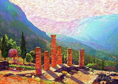 Greek Temple Painting - Delphi Magic by Jane Small