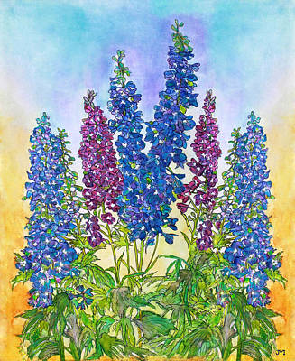 Painting - Delphinium Blue by Janet Immordino