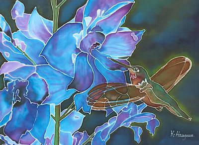 Delphinium Delight Original by Karen Hasegawa