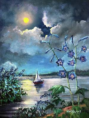 Painting - Delphinium Dreams by Randy Burns