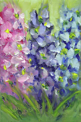 Painting - Delphiniums Mixed Seed Packet by Vicki VanDeBerghe