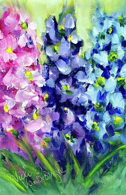 Painting - Delphiniums Mixed by Vicki VanDeBerghe