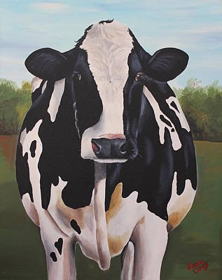 Holstein Painting - Delphinum by Laura Carey