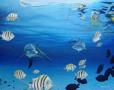 Delphinus Art Print by Angel Ortiz