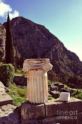 Photograph - Delphi's Ancient Column by Eric Liller