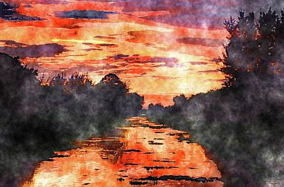 Mixed Media - Delray Beach Sunset Art by Ken Figurski