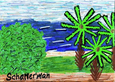 Drawing - Delray Beach by Susan Schanerman