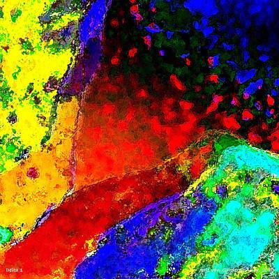 Abstract Flower Digital Art - Delta 1 by Arie Van Garderen